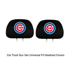 New Team ProMark MLB Chicago Cubs Head Rest Covers For Car Truck Suv Van