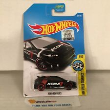Ford Focus #176 * Black * 2017 Hot Wheels FACTORY SET Edition