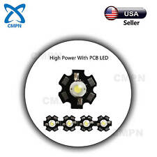 10Pcs 3Watt High Power LED Chip SMD Beads Buld White 20000-25000k Light With PCB