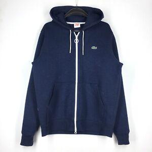 Men's Lacoste Live Hoodi Sweater Cardigan Full Zip Casual Blue Size - M