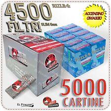 4500 Filtri RIZLA SLIM 6mm + 5000 Cartine ENJOY FREEDOM SILVER CORTE + ACCENDINO