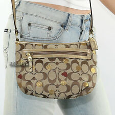 NEW Coach Poppy Secret Admirer Laura Hearts Shoulder Bag Crossbody 46773 RARE