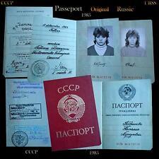 Anc.document-passeport-Tallinn-Russe-CCCP-URSS-soviétique-Russie-1985-rare