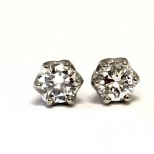 GIA certified .55ct SI2 G round diamond stud earrings estate vintage antique