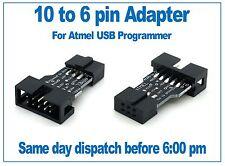 10 Manera De 6 forma Atmel Programador ICSP Adaptador, Apto Para Usbasp, Usbisp, Avr