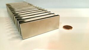 """N52 Large 3"""" Neodymium Block Magnet Super Strong Rare Earth Pull Force 65 lbs"""