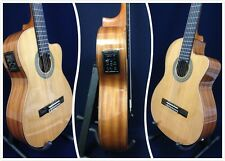 M Rosales Solid Top Nylon String Classical Guitar w/EQ,Truss Rod+Free Bag.10CEQN