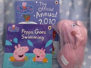 Peppa Pig soft plush toy 25cm plus an annual & softcover story book
