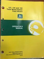 John Deere Op Manual 127, 135, & 152 Total Mixed Ration Feed Mixers #Omw43414