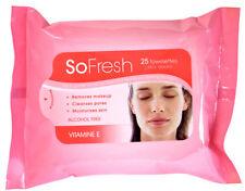 So Fresh Cleansing Towelettes Vitamin E Makeup Remover Moisturises Gentle Facial