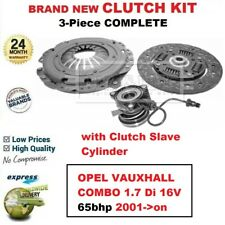 FOR OPEL VAUXHALL COMBO 1.7 Di 16V 65bhp 2001->on NEW 3-PC CLUTCH KIT with CSC
