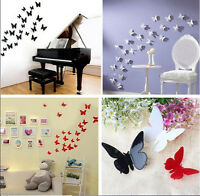 12 pcs 3D DIY Wall Sticker Stickers Butterfly Home Decor Room Decorations NEW