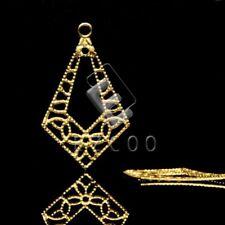 20pcs Metal Filigree Charms for Jewelry Making DIY Teardrop 23x14mm YBMB0575