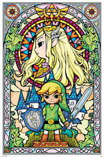 The Legend of Zelda Stained Glass Nintendo Switch Poster 61x91.5cm PP33735