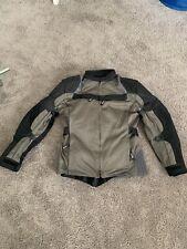 Xelement XS8162 Black Gray Mesh 3-way Liner Armored Motorcycle Jacket- Medium