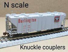 Burlington CB&Q 3 bay covered hopper car N scale BLMA gray PS 4000 grain Route