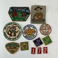 (12) Vintage Boy Scouts Cub Scouts BSA Patch Lot New York Brooklyn NJ NY
