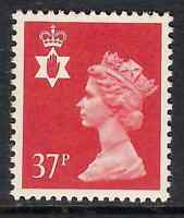Northern Ireland 1990 NI67 37p litho phosphorised paper Regional Machin MNH