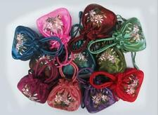 Color Elegant  Beautiful Chinese Handmade Embroider Silk Bag Wristlet Womens ewe