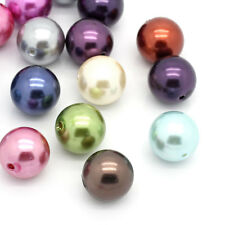 20 Mix Rund Acryl Spacer Perlen Beads Kugeln Basteln 20mm