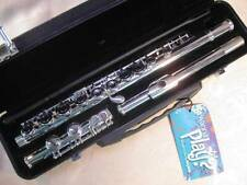 Musikwerks Deluxe Student Flute-Silver Plated-C Foot-Bright Clear Tone!