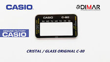 VINTAGE GLASS CASIO C-80 NOS