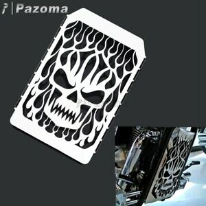 Motorcycle Skull Radiator Grille Guard Cover For Kawasaki Vulcan VN 1500 Classic
