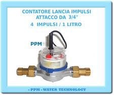 """CONTATORE ACQUA LANCIA IMPULSI - ATT 3/4""""- 4 IMPULSI / 1 LITRO TRATTAMENTO ACQUA"""