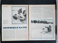Vintage 1969 Snowmobile Racing  2-Page Article