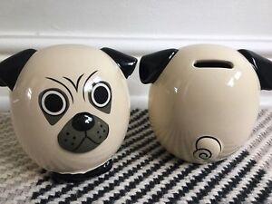 TOPSHOP Ceramic Pug DOG Money Box new RRP £16