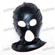 Fanatical Spandex With Latex Hood Mask Nose Eyes Mouth Open headgear