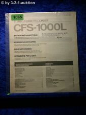 Sony Bedienungsanleitung CFS 1000L Cassette Corder  (#1065)