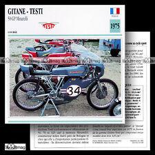 #063.18 GITANE TESTI 50 GP GRAND PRIX 1975 (Moteur MINARELLI) Fiche Moto