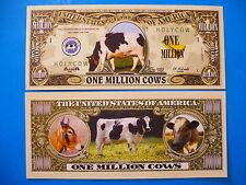Holy Bessie MOO COW ~ Fake $1,000,000 One Million Dollar Bill: United States USA