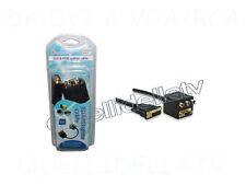 CAVO SPLITTER DVI VGA 15 PIN RCA RGB SDOPPIATORE VIDEO MONITOR TV 24+5 2510