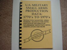 U.S. Military Small Arms Production Data 1770 to 1970