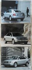 AUDI A4 1.9 TDI Saloon Press Photo lot x3 2000 - no brochure