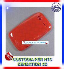 Custodia +Pellicola CIRCLE ROSSE per HTC SENSATION 4G G14