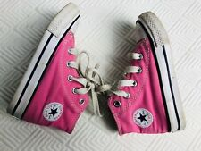Converse All Star Hi Top Toddler Canvas Pink Tennis Shoes Size 6