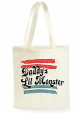 Il suicidio SQUAD daddy's lil MONSTER SHOPPING CANVAS TOTE BAG IDEALE REGALO