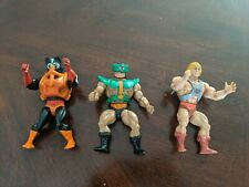 He-Man 1980's MASTERS OF THE UNIVERSE MOTU Vintage Action Figures LOT 3 figures