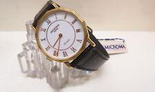 Microma Watch Orologio Quartz MA 305 Y | Anni 80/90 Nuovo | Cinturino Pelle