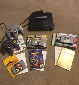 Nintendo 64 System Grey Console + Games