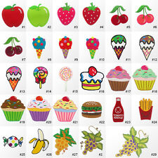 #394R Fruit Sweets Dessert Food Crafts kids Embroidered Sew Iron on Patch Badge