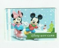 Disney Gift Card Christmas - Mickey & Minnie Ice Skating - No Value - I Combine