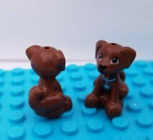 New Lego Animal Friends Dog Brown Sitting DASH Blue Collar SCOUT Pet Puppy