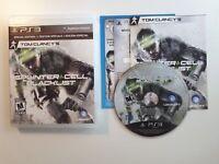 Tom Clancy's Splinter Cell Blacklist Signature edition PS3 Complete CIB MINTDisc