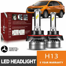 H13 9008 LED Headlight Bulb 60W 12000LM Kit High Low Beams Upgrade 6000K DWK