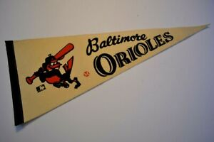 Vintage Late 1960's / Early 1970's Baltimore Orioles Pennant