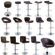 1/2 pcs Bar Stools Adjustable Faux Leather Kitchen Breakfast Stool Chair u014